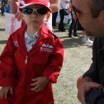 Child in Red Arrows uniform